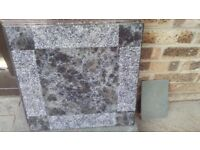 Ceramic floor tiles, 5 only, black/grey
