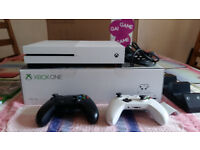 xbox one s 1tb console, 2 controllers, charger, 4 games, only 5 Months old