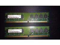 2 X 512MB PC2-4200U-444-12-D0 RAM