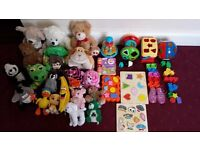 LARGE BABY TOY BUNDLE 30 TOYS SOFT SHAPESS SEE PHOTOS