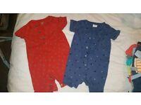 Mamas & Papas romperx2 baby clothes