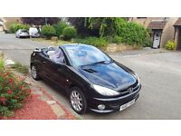 Peugeot 206 cc very rare 07 reg ex conditon fsh 2 owners from new