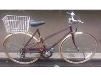 """ladies raleigh misty bike mixte frame 18"""" mudguards and lock fully serviced 5 speed gears"""