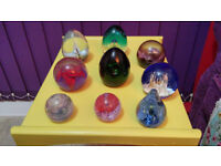 For Sale - Various paperweights including Caithness