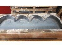 X19 daisy scallop concrete moulds pre casting paving edging