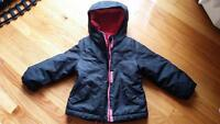 girls size 4 ...2-layer winter jacket 10$
