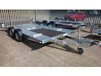 Brian James C4 Blue 5m car transporter trailer