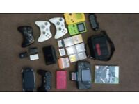 Bundle of Retro gaming consoles and games