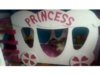 Princess carriage bunk bed