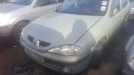 2000 RENAULT MEGANE RNN 1.4 PETROL BREAKING FOR PARTS ONLY POSTAGE AVAILABLE NATIONWIDE