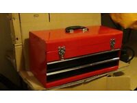 Metal tool box with 2drawers /as new