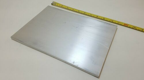 """6061 Aluminum Flat Bar, 3/8"""" Thick x 8"""" Wide x 11"""" long, Solid Plate, Stock"""