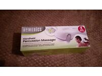 Handheld percussion massager