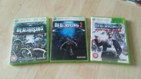 Dead Rising, Dead Rising 2 and Dead Rising off the record xbox 360 games