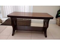 Mahogany coffee table in good condition