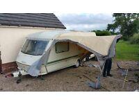 Elddis Typoon xl 4/5 berth, caravan, good condition, no damp, in good working order