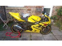 Suzuki GSXR 600cc Yellow Superbike