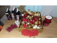 Christmas decorations barging