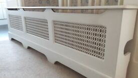 wooden Radiator cover in white, Lovely good condition 183cmsX20cms £40