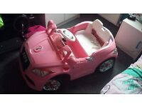 Pink battery powered audi