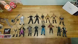 Wwf wrestling figures and weapons