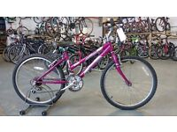 OLDER GIRLS RALEIGH KOBO BIKE 24 INCH WHEELS 15 SPEED PURPLE GOOD CONDITION
