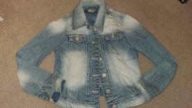 Girl's lightweight Next denim jacket age 11