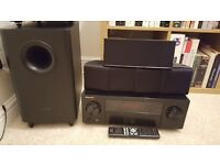 Pioneer HTP-073 AV Receiver with 5.1 surround sound speaker system