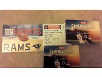 NFL NY GIANTS vs LA RAMS TWICKENHAM 2016 OCT 23. 3x tickets