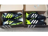 2 BRAND NEW PAIRS ADIDAS SIZE 5.5 FOOTBALL BOOTS