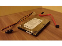 465GB slim Seagate Hard Drive. Windows reformatted. About 2 years old, maybe 100hours use..