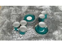 6 x expresso cups and saucers