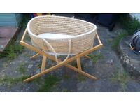 Moses Basket and John Lewis Folding Stand