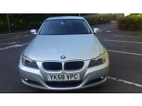 2008 BMW 320d SE. BMW SERVICE HISTORY. 12 MONTHS MOT. ELECTRIC WINDOWS AND MIRRORS.