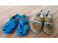 Nike sandals and Clarks shoes