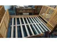Oak double bed