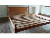 Pine king size bed for sale