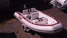 Novurania RIB boat 4.3m luxury superyacht tender with trailer, no engine