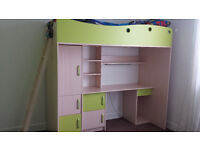 Kids Bunk bed with mattress