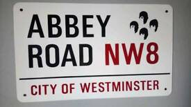 Collectors item Beatles Abbey Road sign
