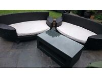 Luxury Rattan garden furniture set - in very good condition - must go - open to offers