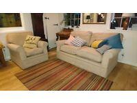 M&S 3piece suite 2x 2seater & armchair
