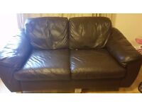 LEATHER SOFA FREE TO COLLECT AS SOON AS POSSIBLE
