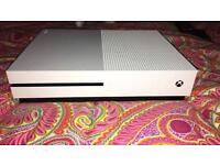 X BOX ONE S 500GB with Minecraft + 2 Games + 2 Controllers - Comes with Box - Immaculate Condition