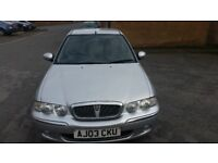 Rover 45 - 1.4 petrol- 2003, 79k miles - 2 keys - Good Runner - Spares or Repairs