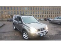 CHEAP Nissan X-TRAIL AUTO PAN ROOF/SAT NAV /REV CAM/ LEATHER 4X4