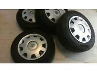 "VW T5 transporter set of 4 16"" wheels"