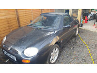 MG MGF 1997. 1.8 litre. GUNMETAL GREY NO MOT. 89000 GOOD ENGINE ETC