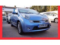 Convertible --- 2008 Nissan Micra 1.6 Tekna C+C --- Low 67000 Miles -- Heated Leather Seats -- micra