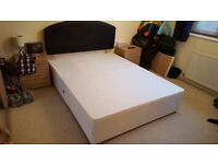 Kingsize bed with headboard